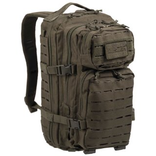 US Assault Pack SM Laser Cut Oliv